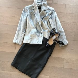 Reiss leather pencil skirt